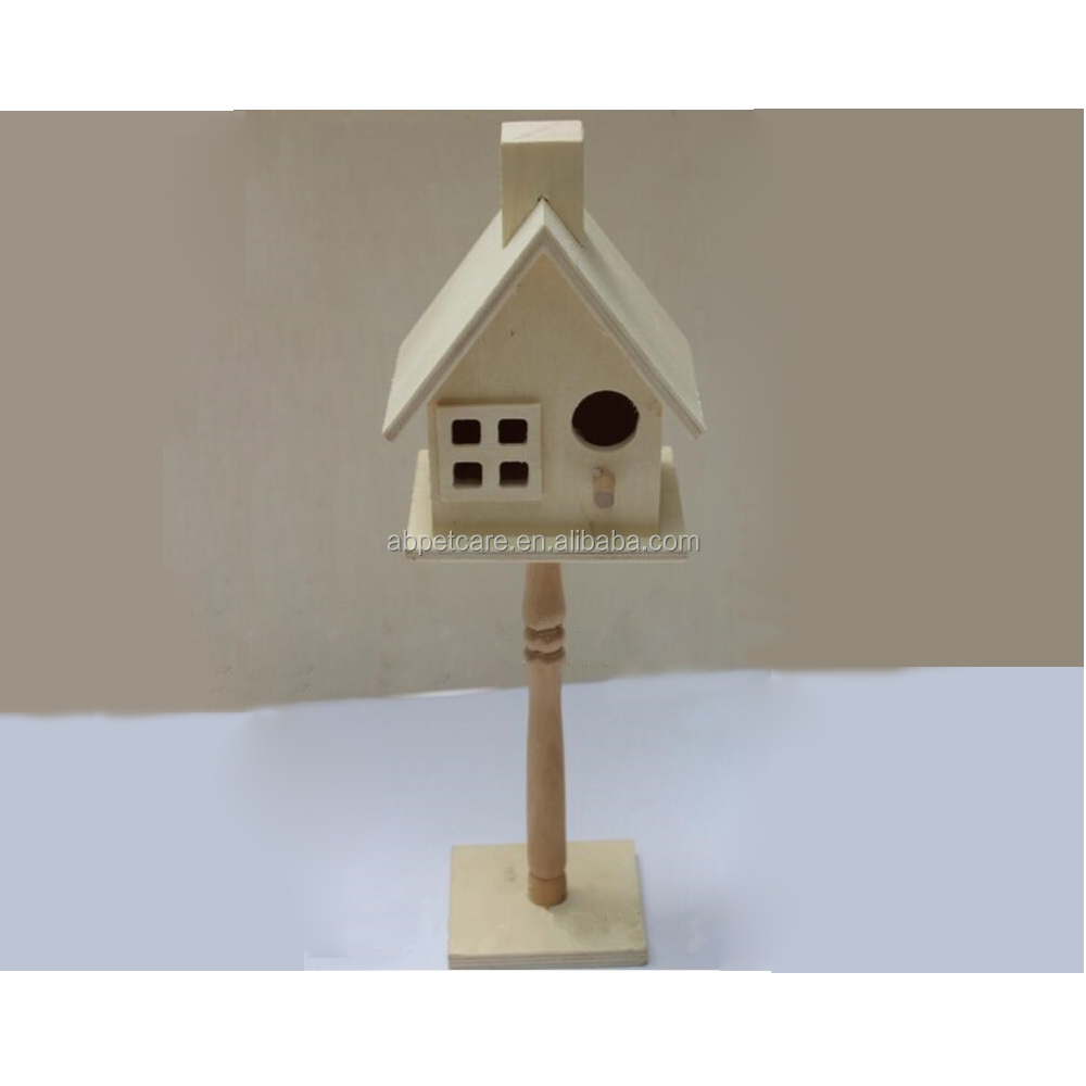 Pet gift pet house unfinished handmade wooden bird house