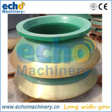 mining equipment spare parts high manganese mantle and concave for secondary cone crusher