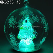 Large Outdoor Christmas Ornaments Glass Ball with Led Light