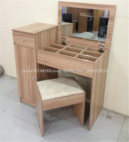 wooden grain melmained MDF board Modern large simple cheap dressing table