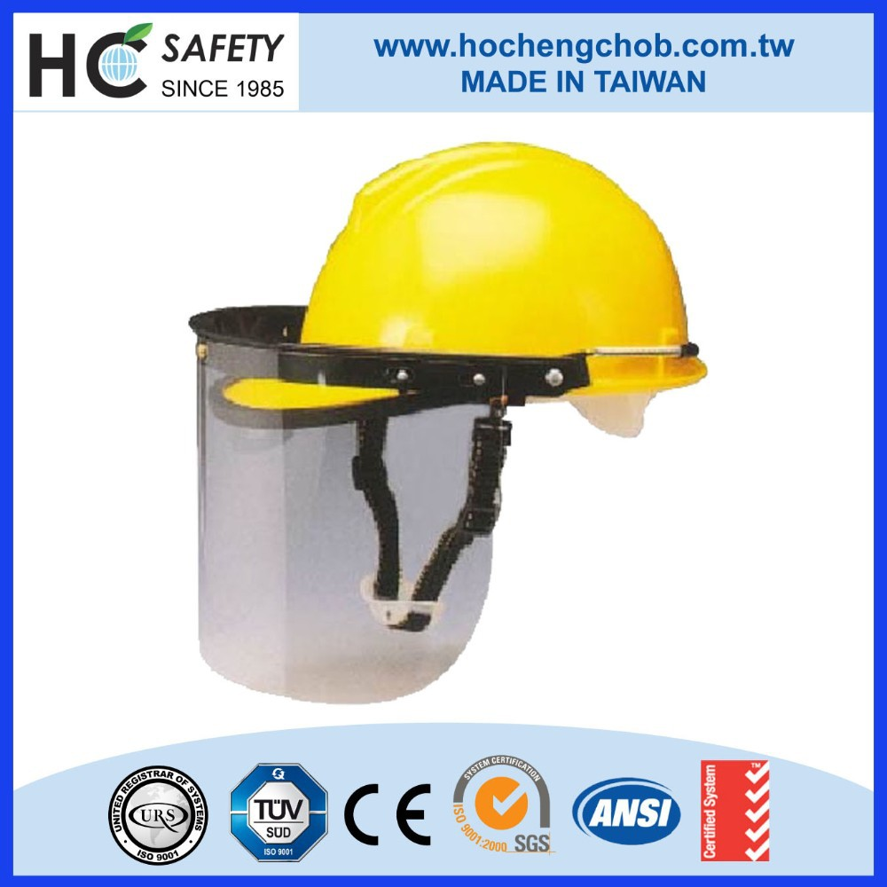 Construction Workplace ABS hard hat PC Clear visor safety helmet