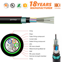 Black rohs approved PL inner 48 core fiber optic cable optic cable