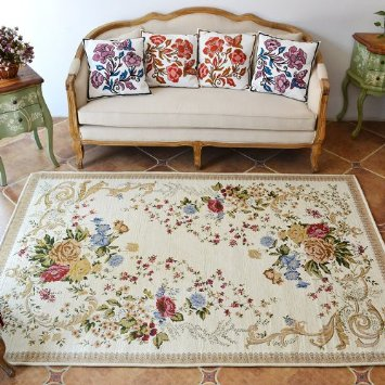 Yintex New fashioned Luxurious Flower Design Floor Wool Carpet