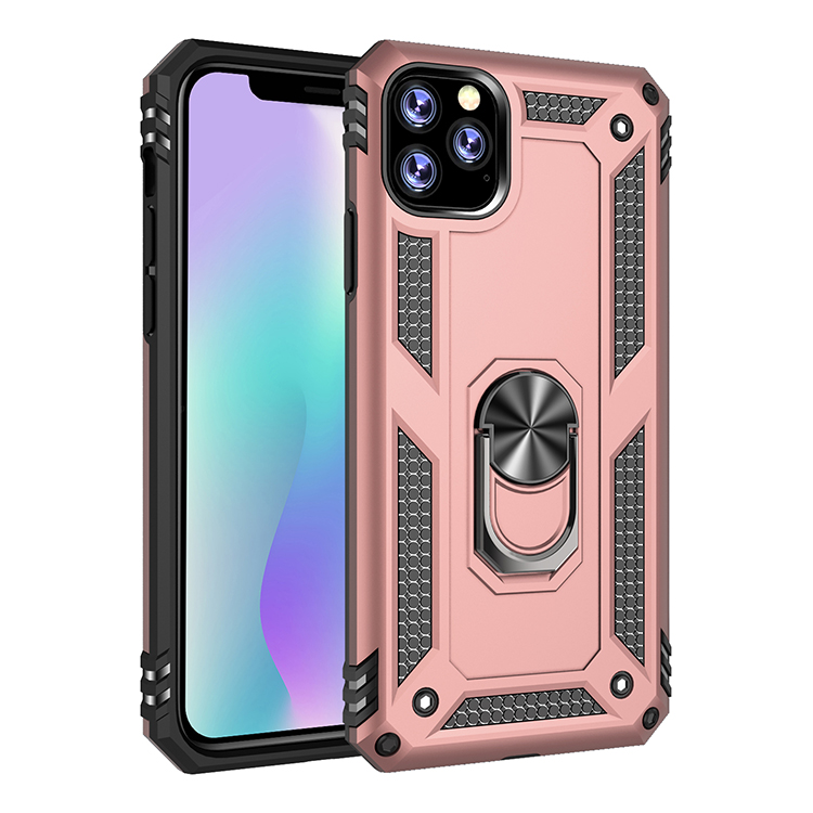360 Degree Phone Holder Shockproof Tpu+Pc phone case for Iphone 11 Pro