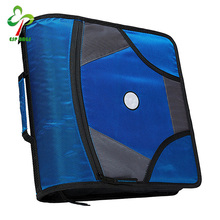 "High quality 3"" O-rings binders with inside mesh pocket, wholesale 3 ring binders with zipper"
