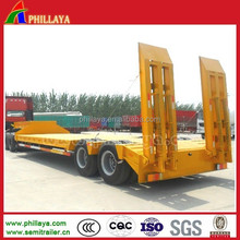 Double Axle 40 Ton Low Bed Trailer/2-Axles 40T Lowbed Truck Semi-Trailer
