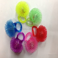 Soft Jelly Glowing In The Dark LED Glow Finger Rings Light For Wedding Birthday Party Favor Decors Kids Toys