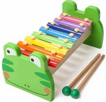 Kids educational musical instrument toy popular Knock harp wooden toy harp