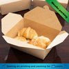 folding takeout box kraft recycled paper food packaging container