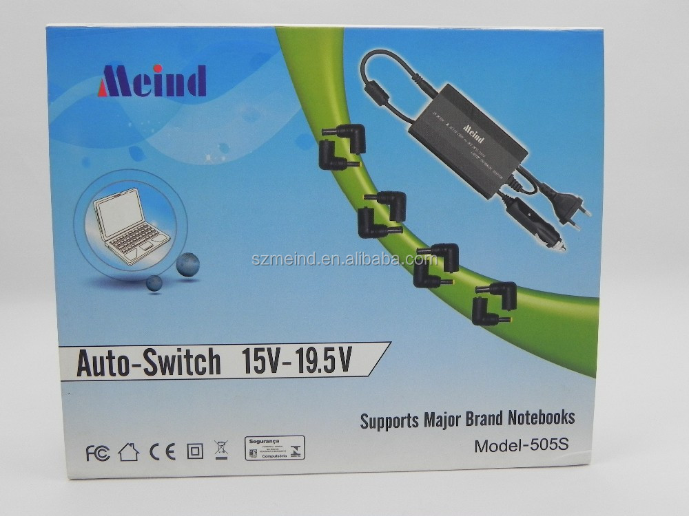 Meind 90w automatic adjustable DC12V-24V universal travel adapter laptop universal adapter charger