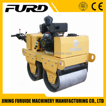 Double Drum Hand Mini Road Roller Compactor (FYL-S600C)