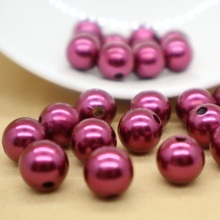 Factory wholesale plastic pearl beads with hole for garment accessories