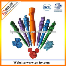 Promotional kids drawing fancy animal shape plastic crayons in bulk