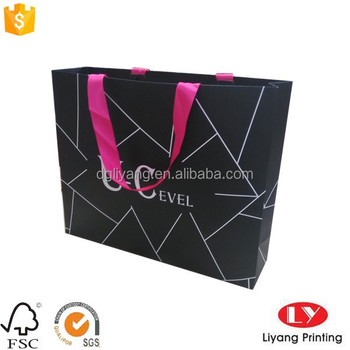 Luxury paper shopping bags with logo