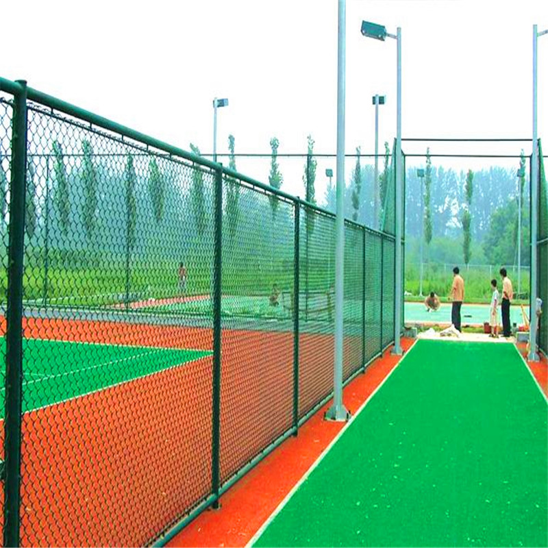 Playground PVC coated chain link fence