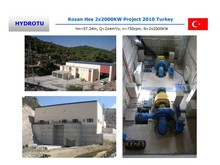 Reaction type Francis Hydro Turbine/Francis water turbine with inlet valve,PLC Governor, generator for hydropower Project