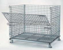 Industrial collapsible wire storage bin