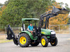 Alibaba wholesale 55hp tractor with front end loader and backhoe