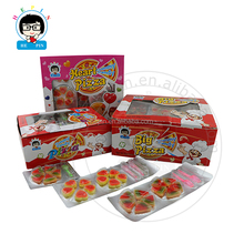 2pcs Pizza Shape Soft Candy Halal Sweet Gummy Candy Fruity Flavor Gummy Jelly Candy