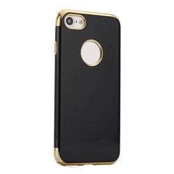Electroplating black color TPU cell phone case for iPhone 7 7 plus ultra thin slim Bumper case for iphone7 cover