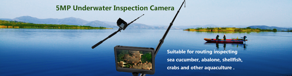 64GB 1080P Digital underwater inspection camera with long pole