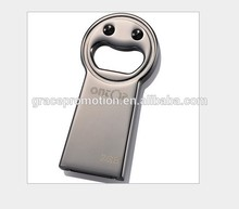fancy new idea for gift Metal Bottle Opener with USB Drive 8GB Real Capacity for OEM