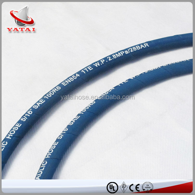 SAE100 R6 Fiber Braided Hydraulic Elastic Rubber Tube