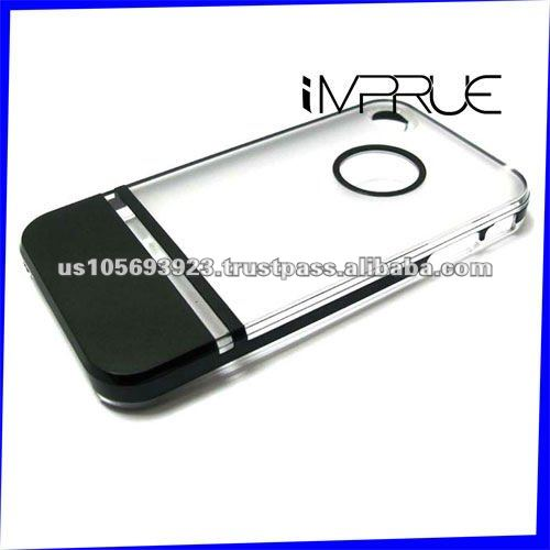 Two-color side abrazine mobile phone cover for iphone4g/4s