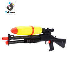 Cheap summer toy black plastic bulk water guns