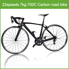2016 full suspension carbon road racing bike / 22 speeds 8kg 700C carbon road racing bike