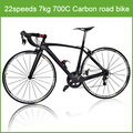 Complete carbon road bicycle full carbon bicycle road frame 22 speed road bicycle, Full carbon frame bike