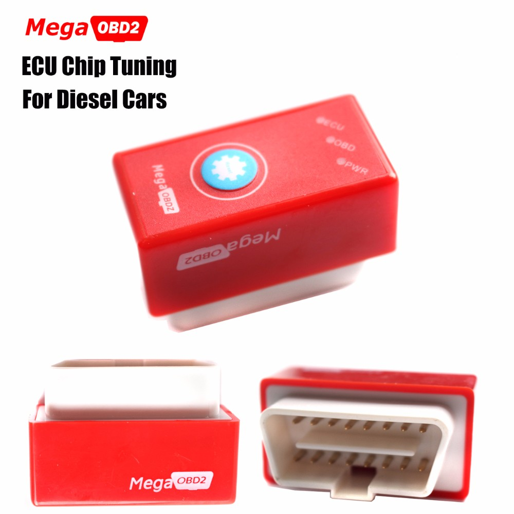 New MEGA OBD2 MegaOBD2 Red with Reset Button Same as SUPER OBD2 SuperOBD2 NitroOBD2 Chip Tuning Box Nitro OBD2 For Diesel Cars