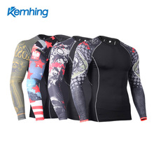 High quality custom fitness T shirts Dry fit compression mens gym clothes sports wear for handball brazilian fitness wear