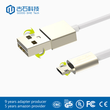 Hot sale new type high quality round braided cable double side micro usb cable
