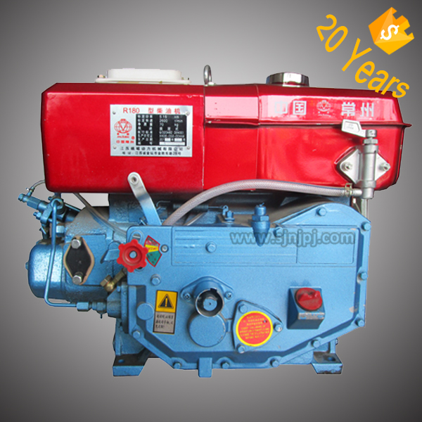 10hp Single Cylinder Water Cooled 4 stroke Diesel Engine R180