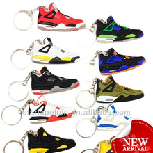 Cheap Sale Stock PVC Rubber Basketball Shoe Jordan Sneaker 3d Keychain
