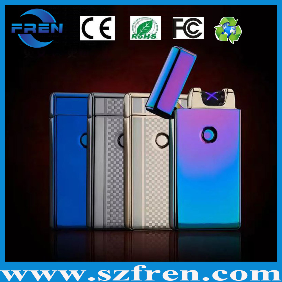 Wholesaler lighter, ARC lighter usb rechargeable, Colorful smart lighter