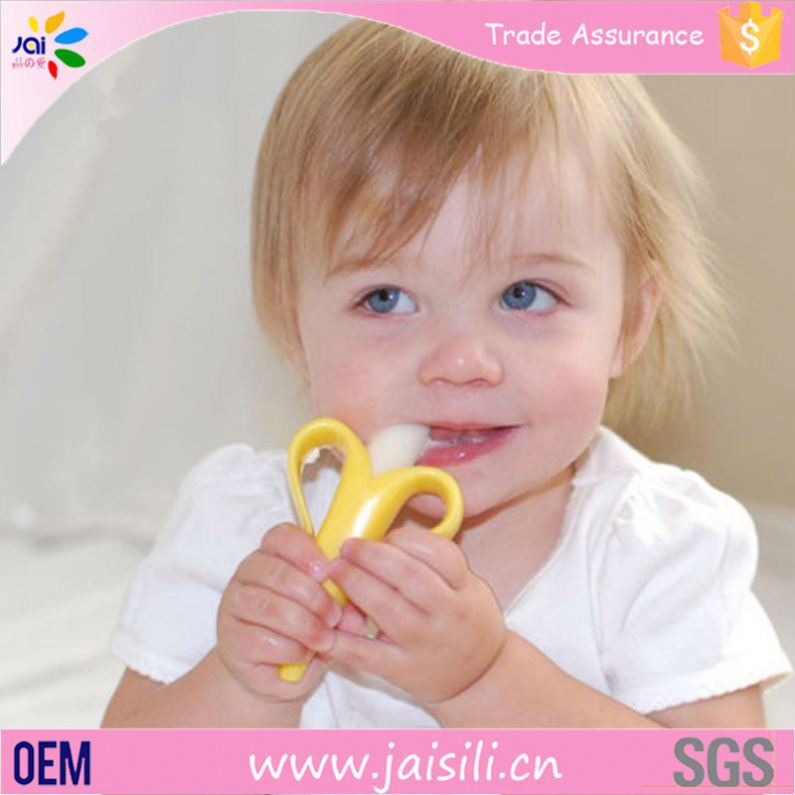 Alibaba gold supplier Manufacturers Infant Safety banana toothbrush baby teething toothbrush for infants