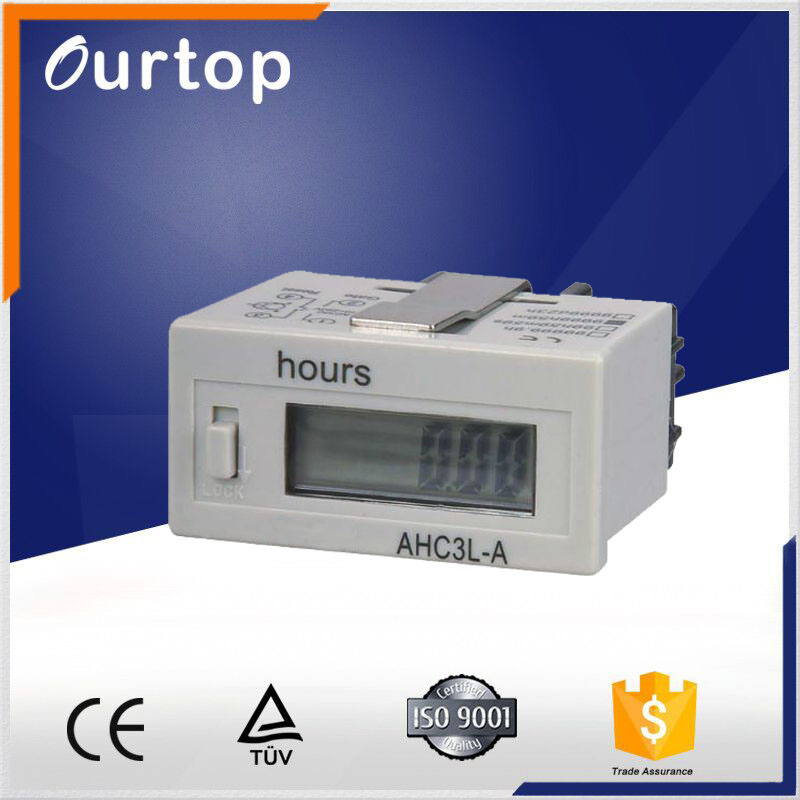 Hour meter Counter Timer Accumulator Digital LCD Time Relay ATHC3L-6