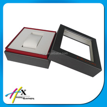 Customize size wooden watch display box with acrylic window
