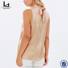 Bangkok clothes wholesale lightweight fabric sleeveless high neck women top