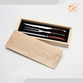 3pcs pakka wood handle laguiole slice knife and fork