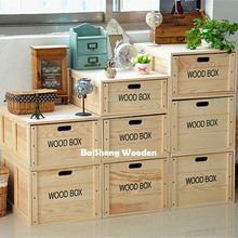 Wooden Crates Unfinished Large Wood Storage Crates for sale