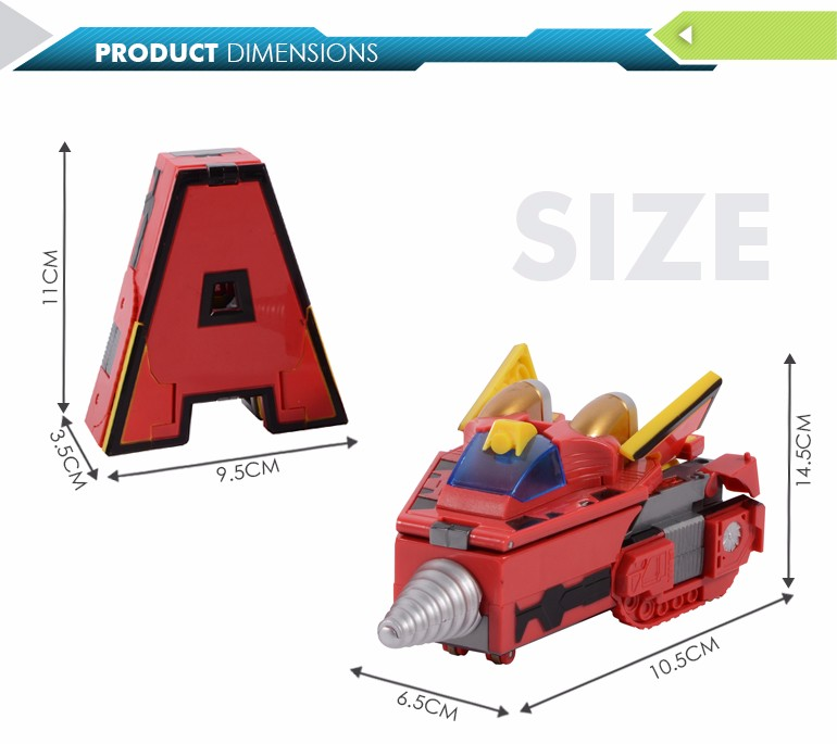 new product high quality alphabetic deformation morphing car kids robot with low price