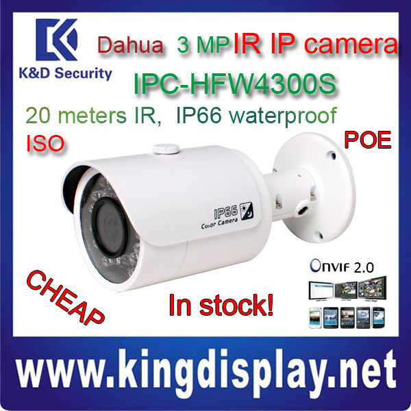 ip DAHUA camera IPC-HFW4300SP Dahua new design outdoor 3 megapixel poe ip66 network KD ip ZOOM security camera SHENZHEN factory