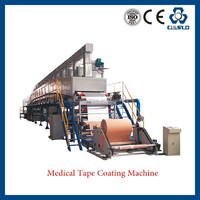 CE STANDARD GOOD QUALITY HIGH SPEED WATER BASE GLUE MEDICAL TAPE COATING MACHINE