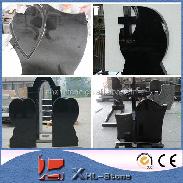 Pure Shanxi black hot sale gravestone/tombstone