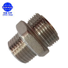 NPT to BSP Straight Hydraulic Stainless Steel Reducer Hex Nipples Joint