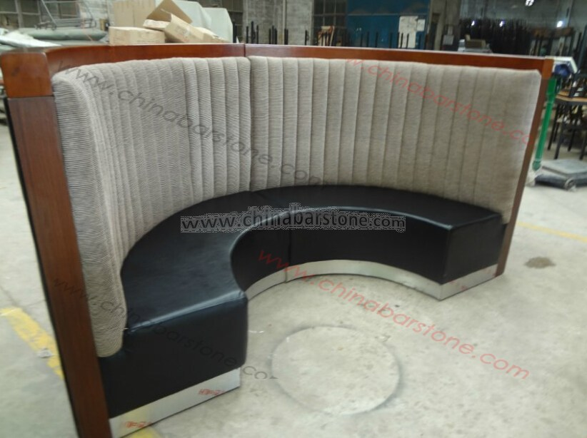Cheaper Price Restaurant Curved Booth Restaurant Booth