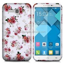 Fashion Printing Gel Skin Soft TPU Material Back Case Cover For Alcatel Mobile Phone Bag With Screen Protector